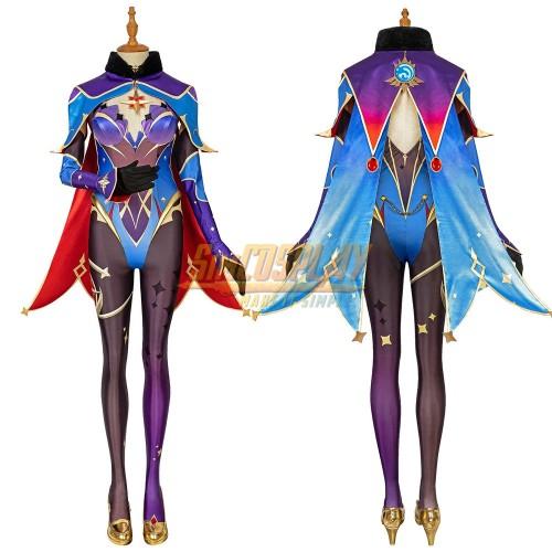 Genshin Impact Mona Cosplay Costume Top Level