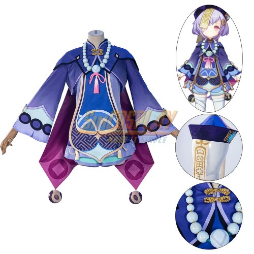 Genshin Impact Qiqi Cosplay Costume High Detailed Cosplay Suit