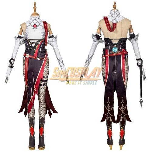 Genshin Impact Rosaria Cosplay Costume Suit Top Level
