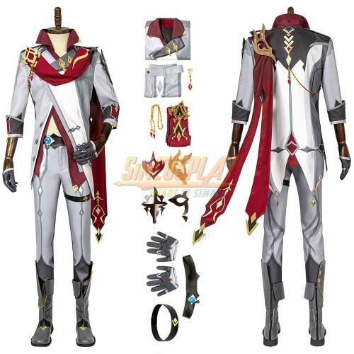 Genshin Impact Tartaglia Cosplay Costume Top Level