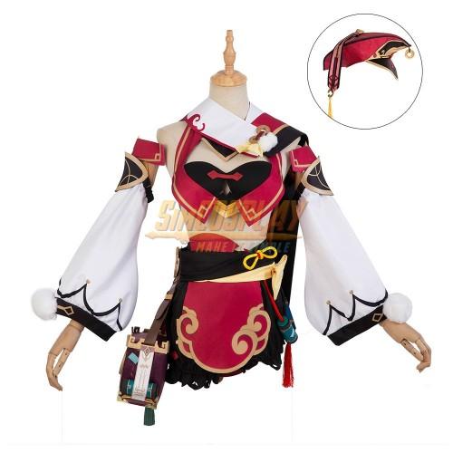 Genshin Impact Yanfei Dress Up Cosplay Costume Ver.1