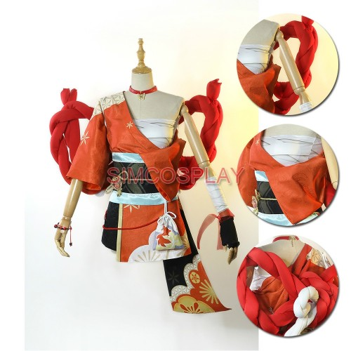 Genshin Impact Yoimiya Cosplay Costumes By SimCosplay