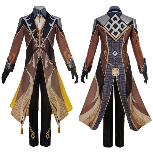 Genshin Impact Zhongli Cosplay Costume Genshin Zhongli Cosplay Suit