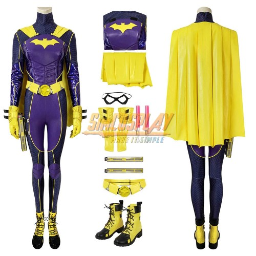 Gotham Knights Batgirl Cosplay Costumes Purple Suit For Female Cosplay Ver.2