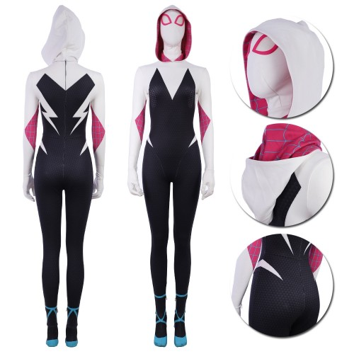 Gwen Stacy Suit Cosplay Costume Spider Man Into The Spider Verse Edition