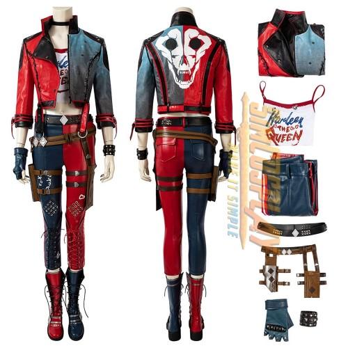 Harley Quinn Cosplay Costume Kill the Justice League Harley Quinn Cosplay Jacket Slim Version