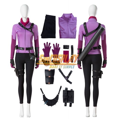 Hawkeye Kate Bishop Cosplay Costumes Purple Suit Custom Size Supported