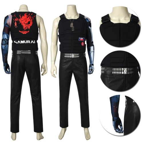 Johnny Silverhand Cosplay Costumes Cyberpunk 2077 Cosplay Suits Ver.1