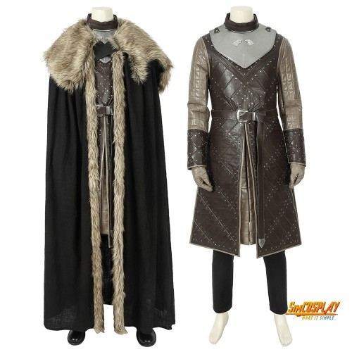 Jon Snow King of The North Cosplay Costume Outfits Game of Thrones Season 8 Cosplay