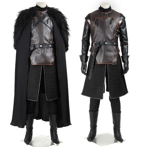 Jon Snow Night's Watch Commander Suit Cosplay Costume Game of Thrones Top Level