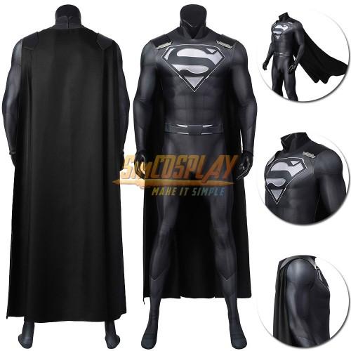 Justice League Superman Black Suit Spandex Superman Costume Ver.2