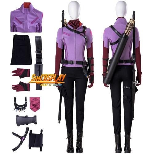 Kate Bishop Hawkeye Cosplay Costumes Purple Suit Top Level