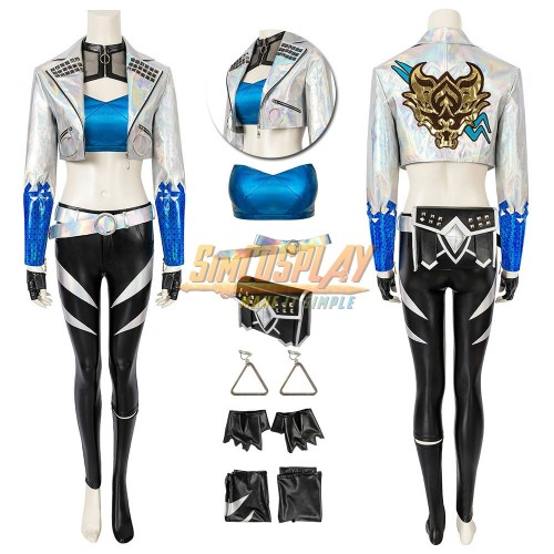 KDA All Out Akali Cosplay Costume LOL KDA Cosplay Suit Ver.1