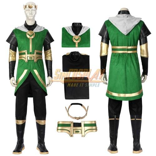 Kid Loki Cosplay Costume Loki Laufeyson Cosplay Suit SimCosplay