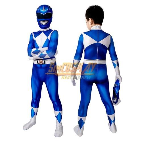 Kids Blue Ranger Cosplay Suit 3D Spandex Costume Halloween Gifts for Children