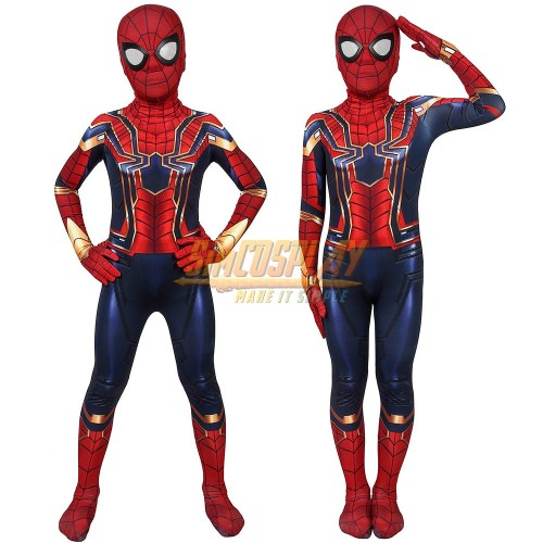 Kids Iron Spider-Man Suit Avengers Spider Man Cosplay Costume For Kids