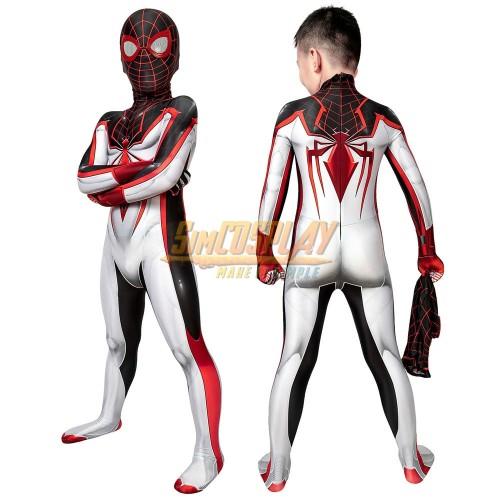 Kids Miles Morales TRACK Cosplay Suit For Children Halloween