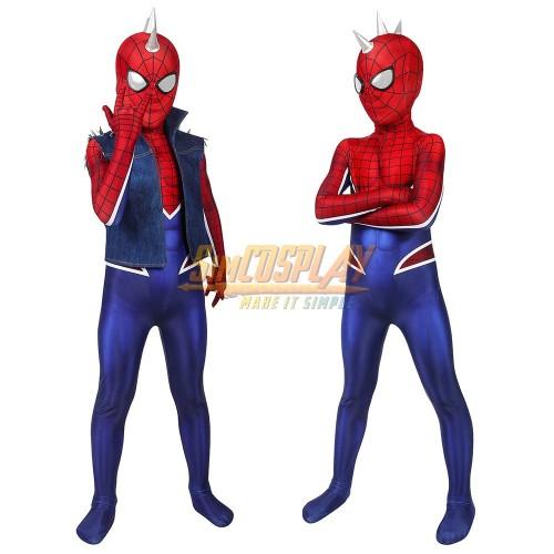 Kids Punk Spider-man Cosplay Costumes Punk-Rock Spidey Suit