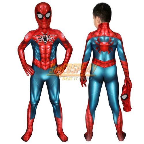 Kids Spider-Armor MK IV HQ Printed Edition Suit Spider-man Cosplay Costume For Children