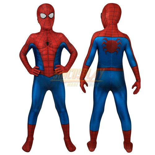 Kids Spider-man Cosplay Suit PS4 Spider-man Classic Printed Edition Costume For Children Cosplay