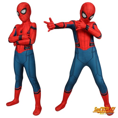 Kids Spider-man Homecoming Cosplay Suit Spandex Costume SKD19022
