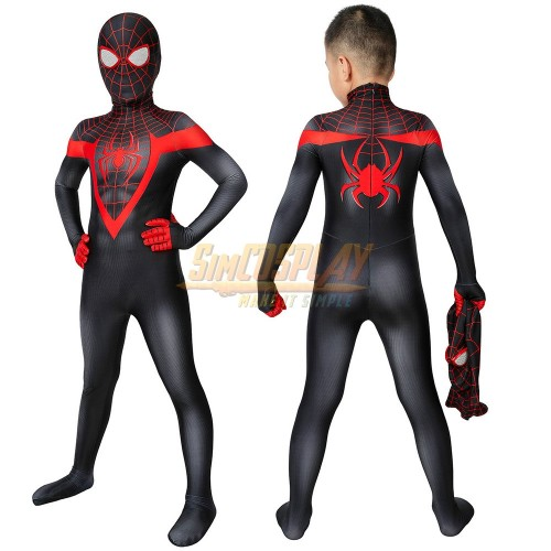 Kids Spider-man Miles Morales PS5 Cosplay Suit Spider-man Cosplay Costume For Children