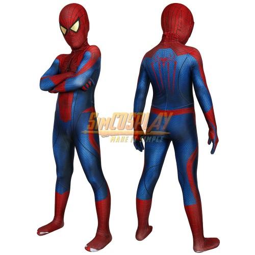 Kids The Amazing Spider-Man Peter Parker Suit HD Children Halloween Costumes