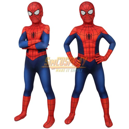 Kids Ultimate Spider-Man Cosplay Costume Classic Ultimate Spiderman Suit