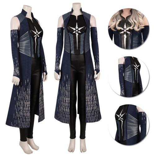 Killer Frost Caitlin Snow Cosplay Costume The Flash 6 Deep Blue Suit
