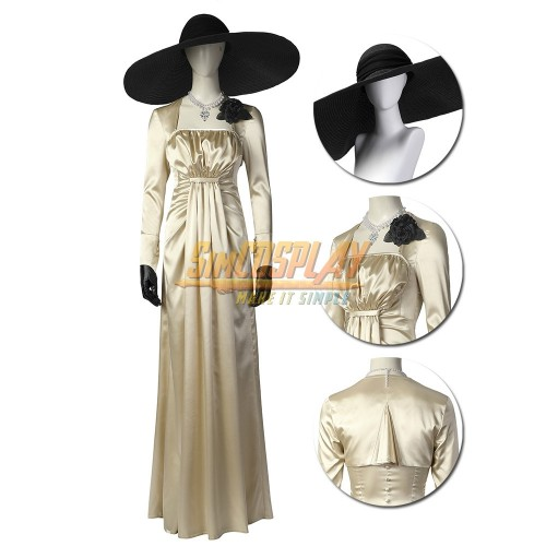 Lady Dimitrescu Cosplay Costume Resident Evil Village Cosplay Suit Ver.2