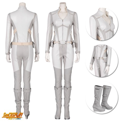 Legends of Tomorrow Sara Lance Costume White Canary Cosplay Suit
