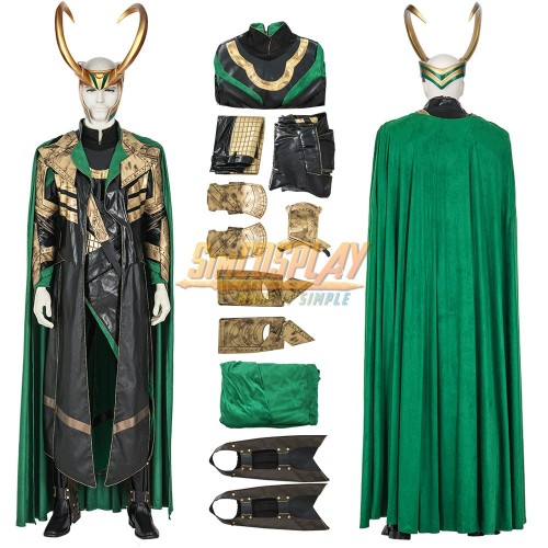 LOKI 2021 Cosplay Costumes High Detailed LOKI Cosplay Suit Top Level
