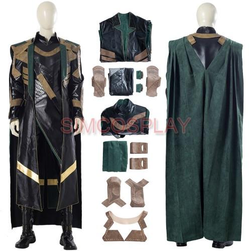 LOKI 2021 Leather Cosplay Costumes Loki Dress Up Suit Custom Size Supported