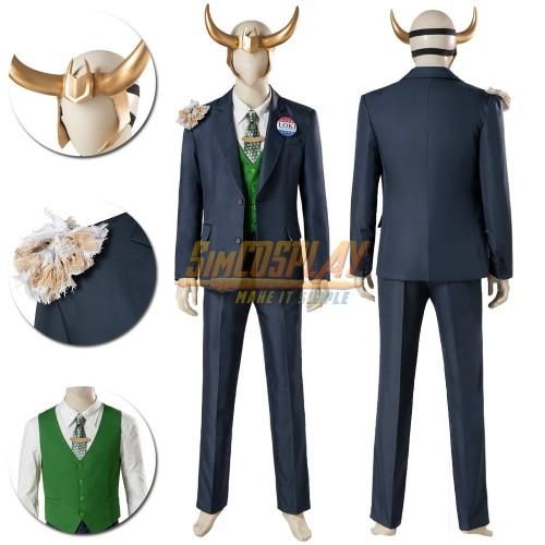 Loki Cosplay Costume 2021 LOKI Dress Up Suit Top Level