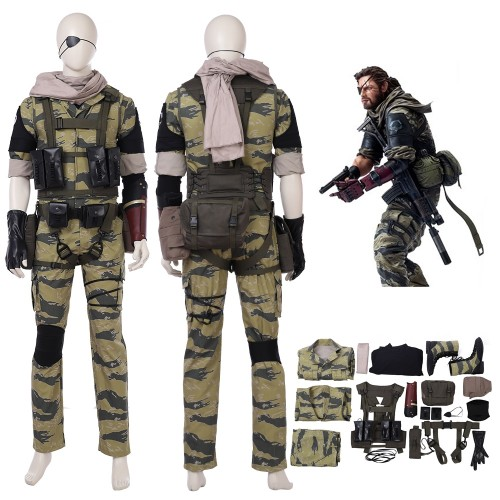 MGSV Metal Gear Solid V The Phantom Pain Snake Cosplay Costume