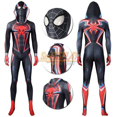 Miles Morales 2099 Suit Spiderman Miles Morales PS5 Cosplay Costume