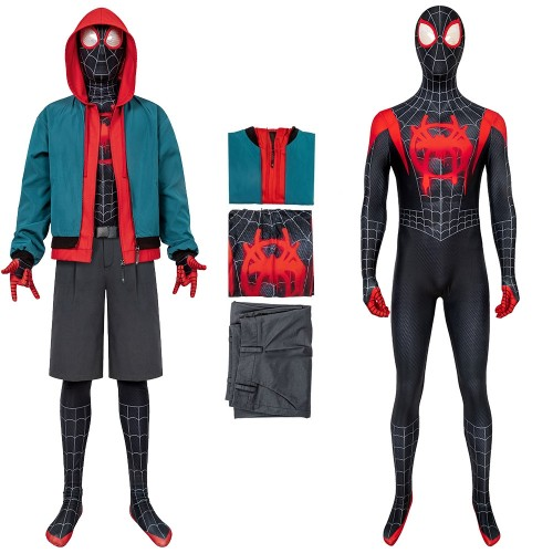 Miles Morales Cosplay Suit Into the Spider-Verse Miles Costume Promotion Edition