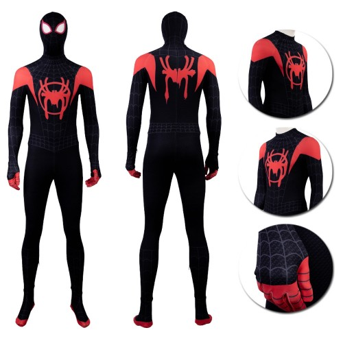 Miles Morales Ultimate Spider-man Cosplay Suit Spider Man Into The Spider Verse Black Edition