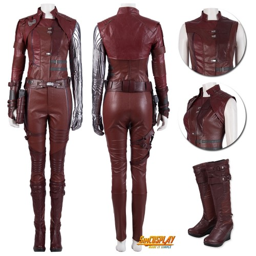 Avengers Endgame Nebula Cosplay Costume Single Sleeve Suit Top Level