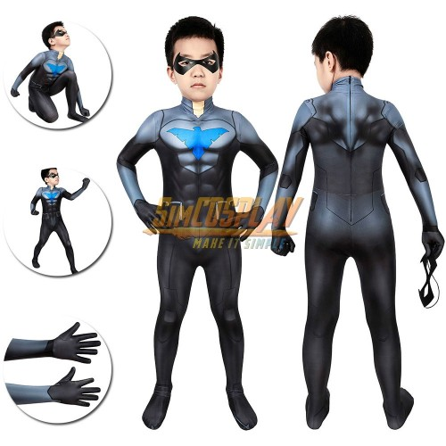 Nightwing Cosplay Suit For Kids Son of Batman Costumes Christmas Gifts for Kids