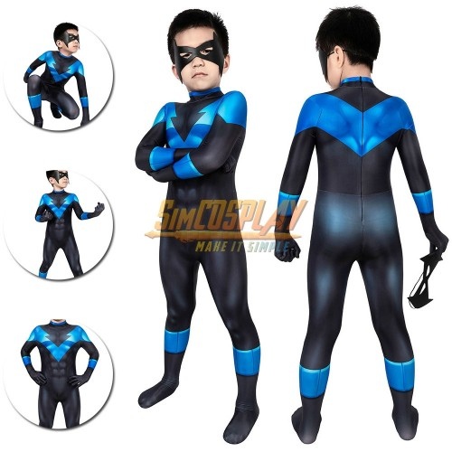 Nightwing Cosplay Suit For Kids Under the Red Hood Costumes For Children