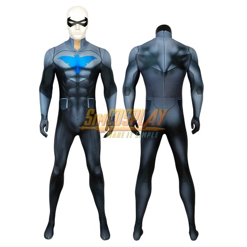 Nightwing Son of Batman Cosplay Costumes The 3D Printed Nightwing Spandex Suit