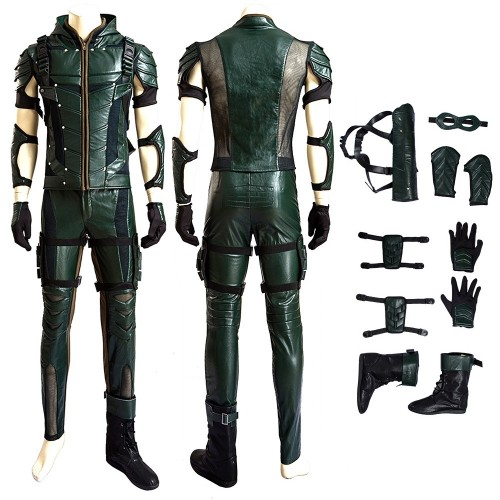 Oliver Queen Cosplay Costume Green Arrow Season 4 Cosplay
