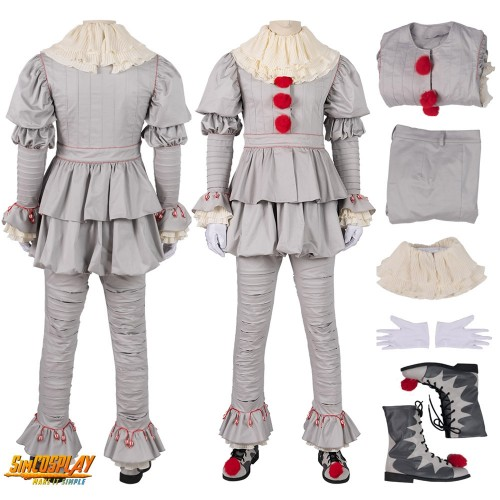Pennywise Costume IT Chapter Two Cosplay Costume Top Level