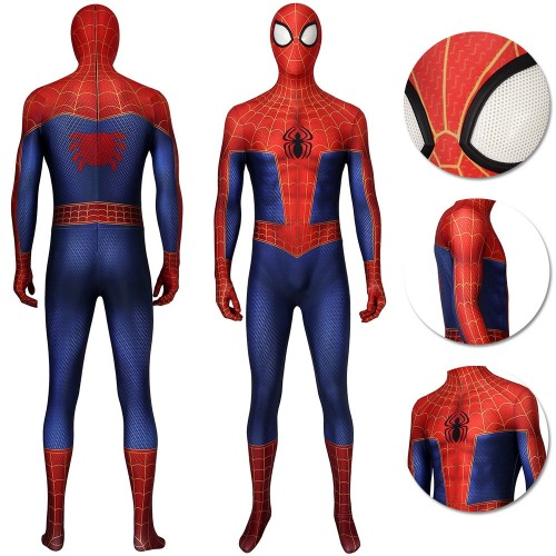 Peter Parker Suit Spider-man Into The Spider Verse Cosplay Costumes