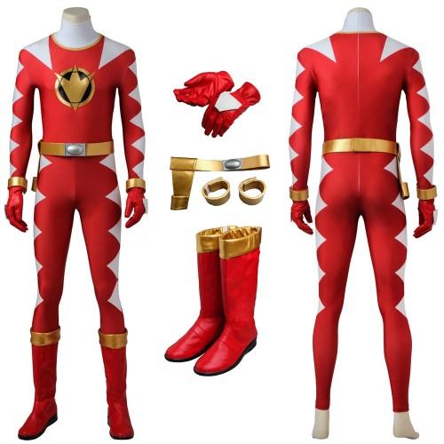 Power Rangers Red Dino Thunder Ranger Conner McKnight Cosplay Costume