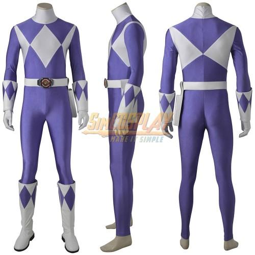Purple Ranger Cosplay Costume Mighty Morphin Power Rangers Suit