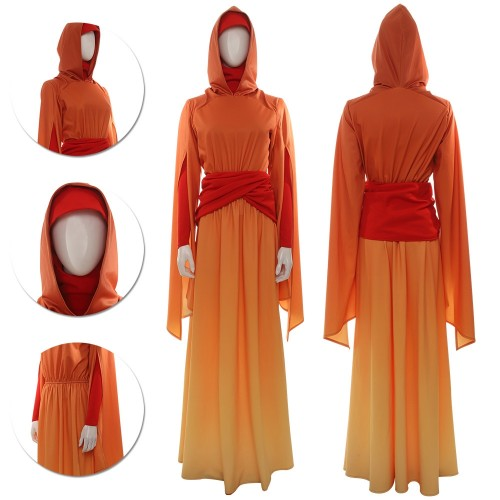 Queen Padme Amidala Cosplay Costume Star Wars Padme Cosplay Handmaiden Gown