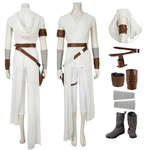 Rey Cosplay Hooded Costumes The Rise Of Skywalker Edition