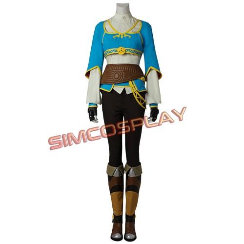 The Legend of Zelda Breath of the Wild Princess Zelda Blue Cosplay Costume